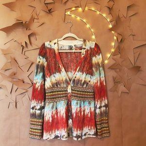 ✨ Anthropologie HWR Tie Dye Rainbow Cardigan ✨